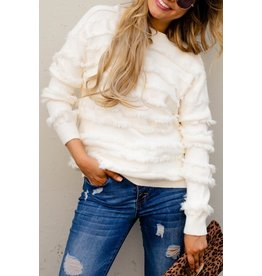 and the why FRINGE SWEATER