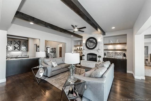CastleRock builders Steve Wright home in Tulsa staged by Amber Marie and Co