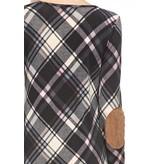 Plaid Elbow Patch Dress