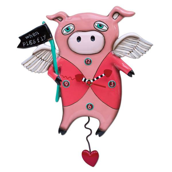 ALLEN CLOCKS ALLEN CLOCK PIGS FLY