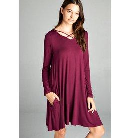 Criss Cross Pocket Dress