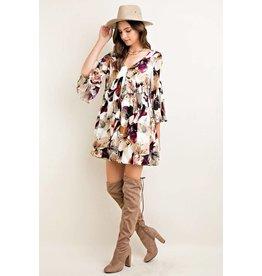 Floral Bell Sleeve Dress