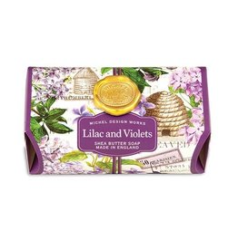 MICHEL LILAC AND VIOLETS LARGE BATH SOAP