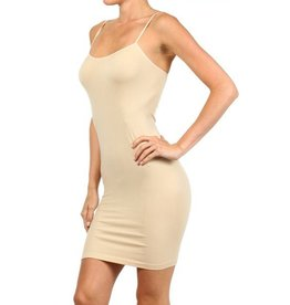 SOLID SEAMLESS LONG CAMI DRESS