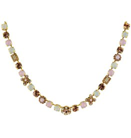 Mariana MARIANA GOLD AFTERNOON DELIGHT RECTANGLE MIXED ELEMENT NECKLACE