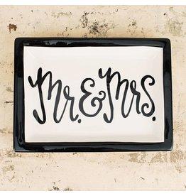 GLORY HAUS MR & MRS RECTANGULAR DISH