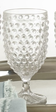 Hobnail Goblet Glass 13 53 Oz Clear Amber Marie And Company