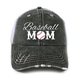 BASEBALL MOM TRUCKER CAP
