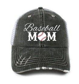 BASEBALL MOM TRUCKER CAP