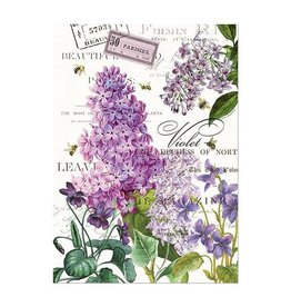 MICHEL LILAC AND VIOLETS KITCHEN TOWEL