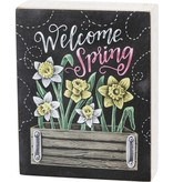 BOX SIGN WELCOME SPRING