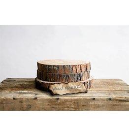 "8-3/4"" Rnd Paulownia Wood Slice"