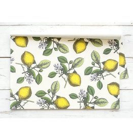 HESTER AND COOK LEMON PAPER PLACEMATS