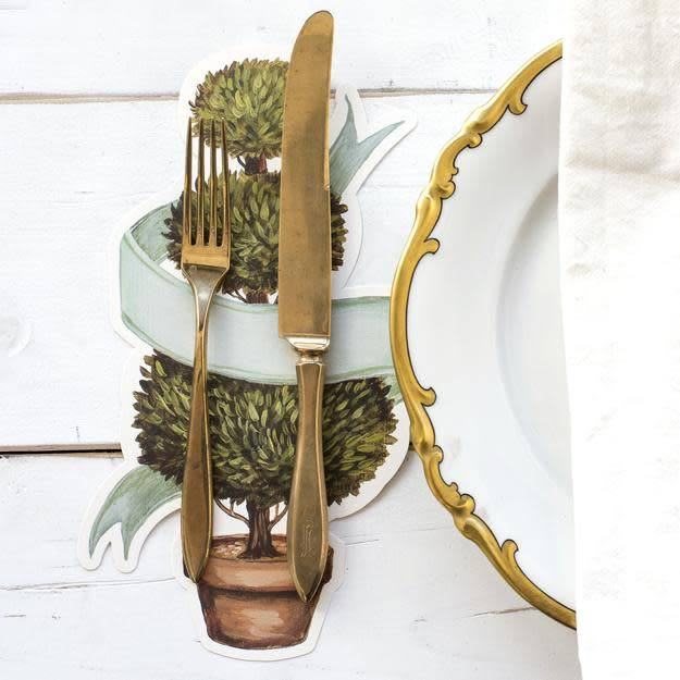 HESTER AND COOK TOPIARY PAPER TABLE ACCENT