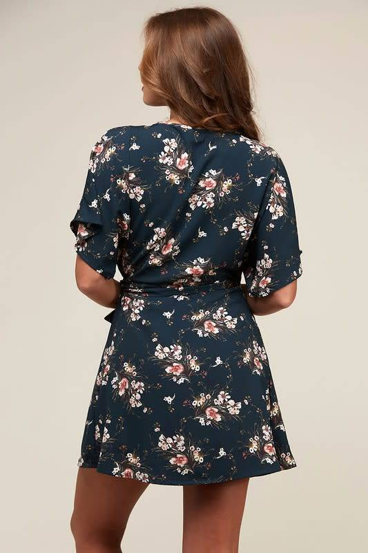 DELILAH FLOWER PRINT WOVEN DRESS