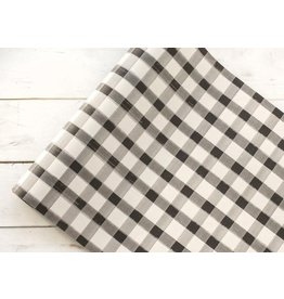 HESTER AND COOK BLACK PAINTED CHECK PAPER TABLE RUNNER