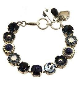 """Mariana MARIANA """"MOOD INDIGO"""" silver mixed element bracelet"""