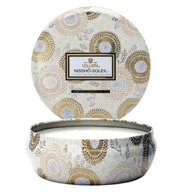 VOLUSPA 3 WICK CANDLE IN DECORATIVE TIN