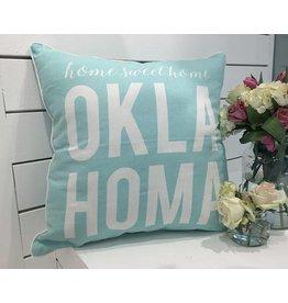 HOME SWEET HOME AUQUA PILLOW - OKLAHOMA