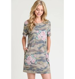 CAMO RELAXED SHIRTDRESS