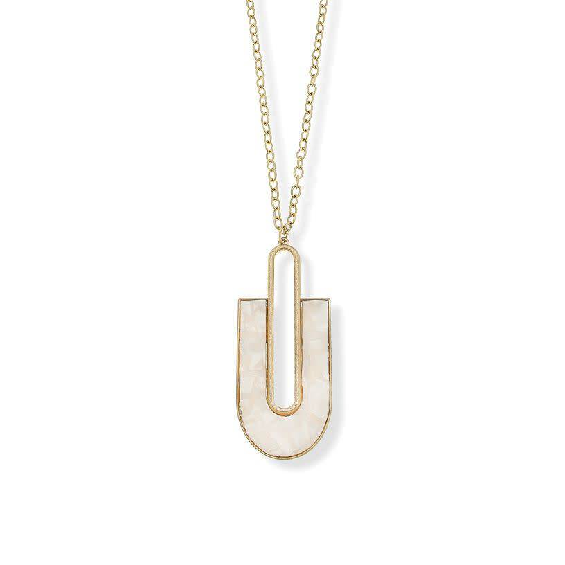 "BROOKE ""U"" PENDANT NECKLACE"