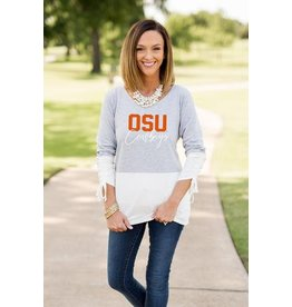 COLLEGIATE CALLING THE SHOTS COLOR BLOCK TOP