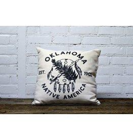 OKLAHOMA SHIELD BLACK PILLOW