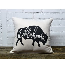 OKLAHOMA BUFFALO PILLOW