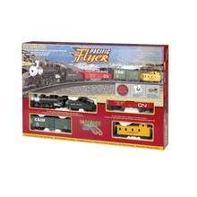 Bachmann HO Pacific Flyer Steam Train Set # 00692