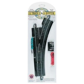 Bachmann HO EZ Track Right Hand Switch Black Track # 44462