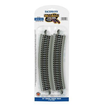 "Bachmann HO EZ Track 22""  Radius Curved Track (16 pieces for Circle) # 44503"