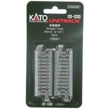 Kato Trains Kato N (64MM) Straight Track (2) # 20-030
