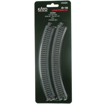 "Kato N Unitrack Curved Track R9 3/4""-45 Dreg # 20-100 # TOTES1"