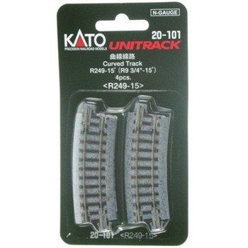 Kato Trains Kato N Curved Track R249-15 (4) # 20-101