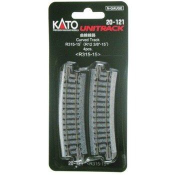 Kato Trains Kato N Curved Track R315 15 Deg #20-121