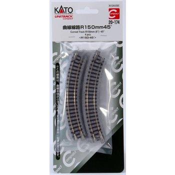 "Kato N Curved 45 Degree 6"" Tracks # 20-174 # TOTES"