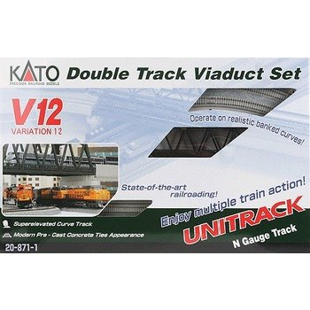 Kato Trains Kato N V12 Double Track Viaduct set # 20-871