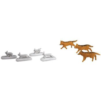 Lionel O Polar Express Wolves & Rabbits Animal Pack # 6-24252