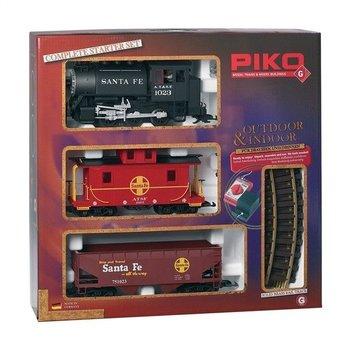 Piko G Santa Fe Steam Freight Starter Set # 38104 # TOTE1