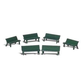 Woodland Scenics O Park Benches (6) # 2758