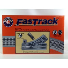 Lionel O31 Remote/Command FasTrack Switch Left Hand # 6-81254