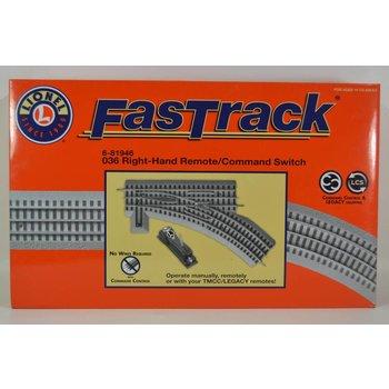 Lionel O36 Remote/Command FasTrack Switch RH # 6-81946 #TOTES1
