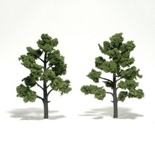 "Woodland Scenics Ready-Made ""Realistic Trees"" - Deciduous - 5 to 6""  12.7 to 15.2cm pkg(2) Light Green # 1512"