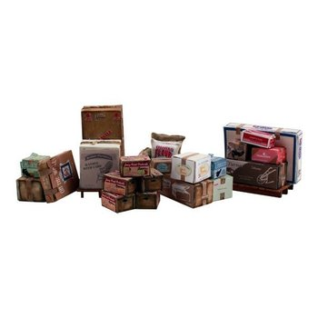 Woodland Scenics O Freight Crates & Palletized Boxes # 2766