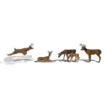 Woodland Scenic O White-Tail Deer pkg(6) # 2738