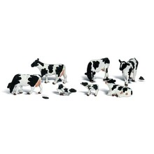 Woodland Scenics O Animal Figures Holstein Cows pkg (7) # 2724