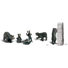 Woodland Scenics O Animal Figures Black Bears # 2737
