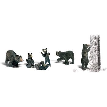 Woodland Scenics O Animal Figures Black Bears # 2737