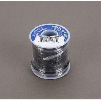 Miniatronics Miniatronics 22 Gauge Stranded Single Conductor Wire - 100' 30m Black # 42201