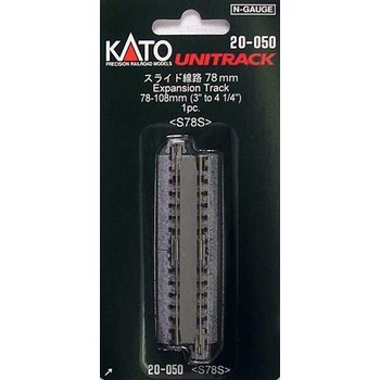 """Kato Straight Roadbed Expansion Track Section - Unitrack -- 3 - 4-1/4""""  78-108mm # 20-050"""